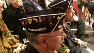 Veterans and military servicemen paid tribute