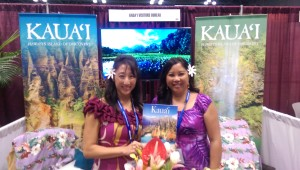 Tropical beauty at Kaua'i booth