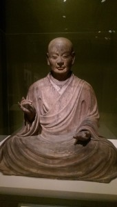 Feeling spiritual - one of the exquisite statues of the Kamakura exhibit