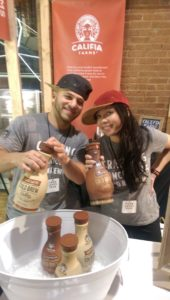 Califia serving sweet iced coffee at Food Loves Tech